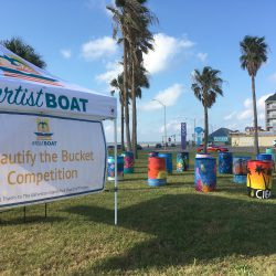 Artist Boat's Beautify the Bucket Art Competition